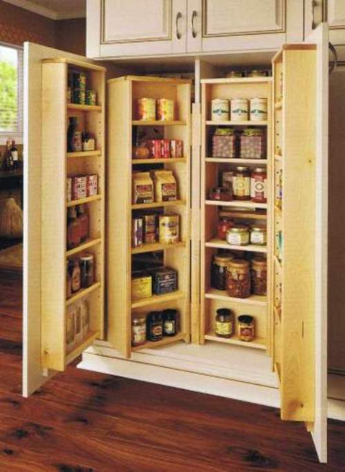 wooden pantry shelving systems photo - 2
