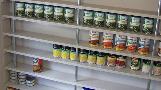 wooden pantry shelving systems photo - 4