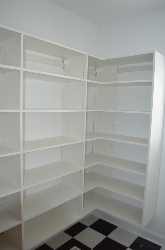 wooden pantry shelving systems photo - 5