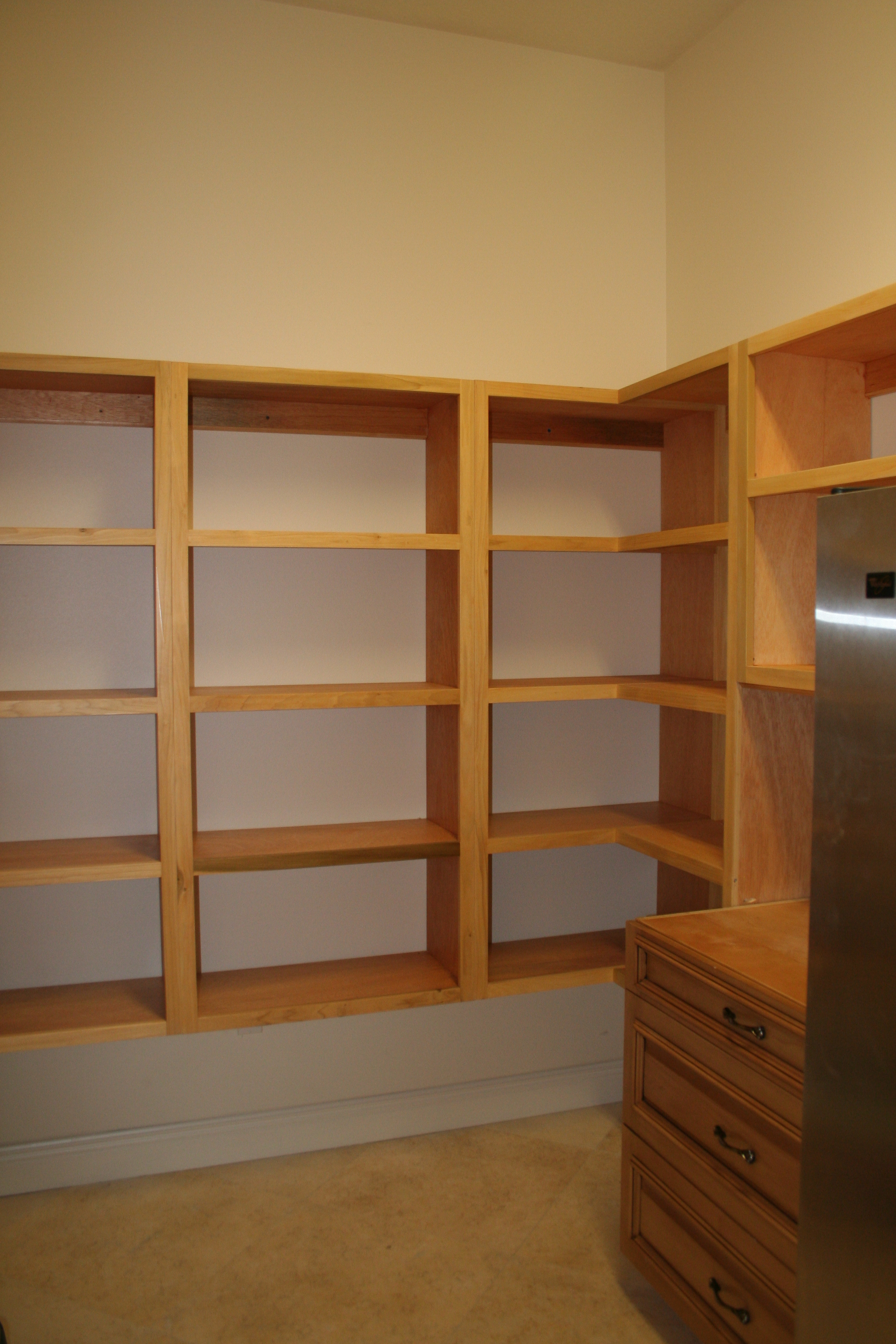 wooden pantry shelving systems photo - 6