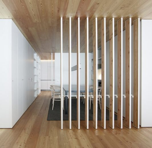 wooden wall partition designs photo - 3