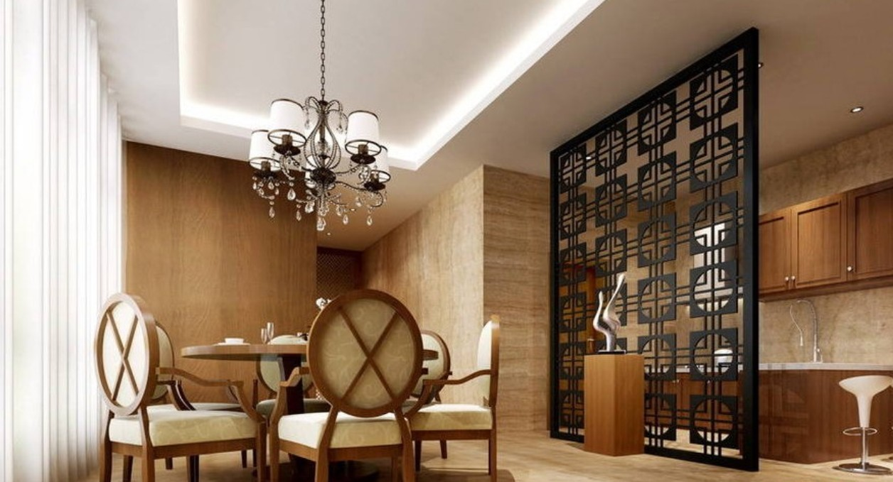 wooden wall partition designs photo - 5