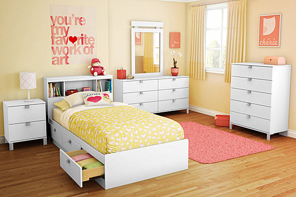 yellow bedroom furniture for girls photo - 1