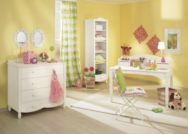 yellow bedroom furniture for girls photo - 3
