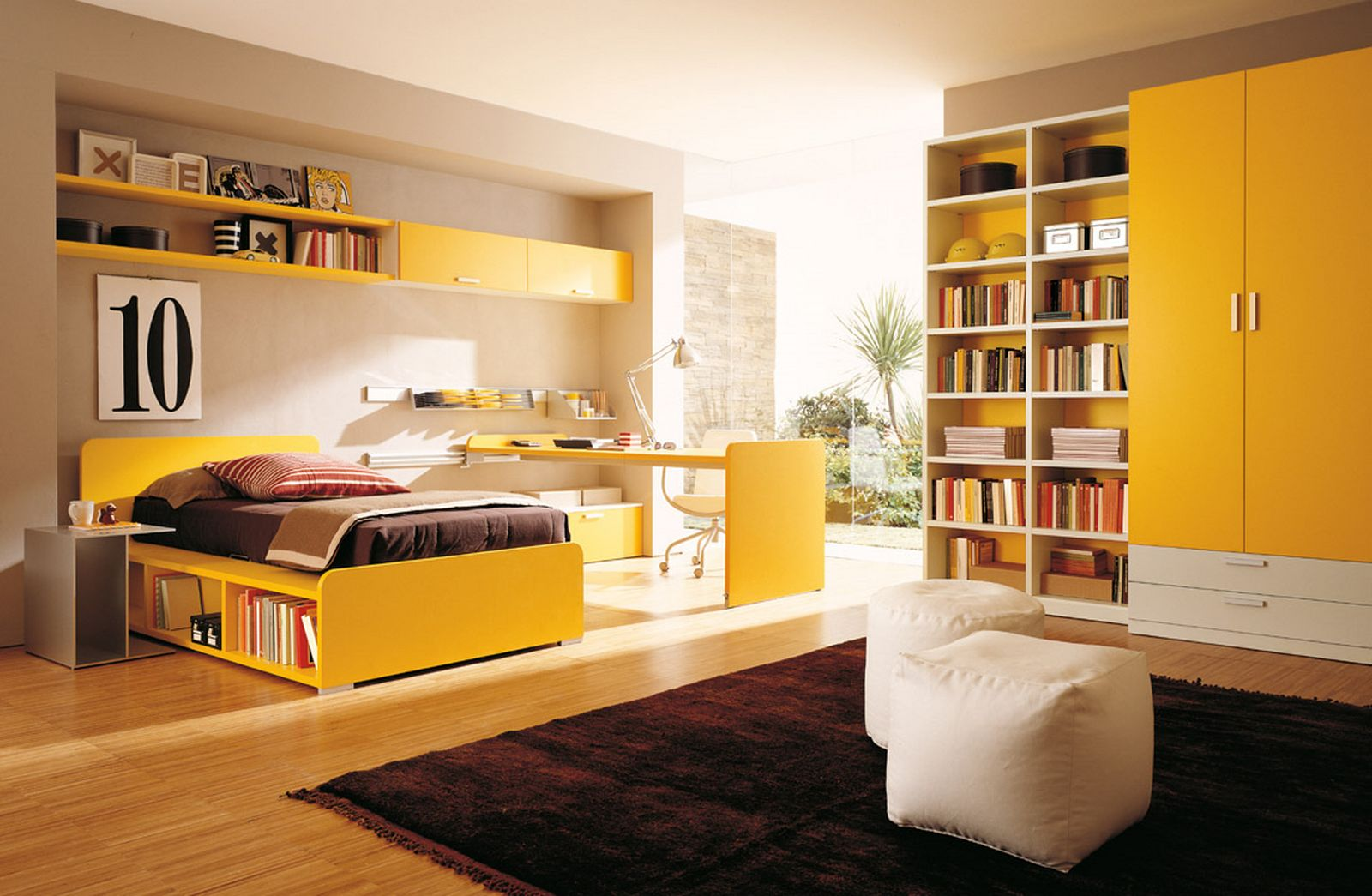 yellow bedroom furniture for girls photo - 5