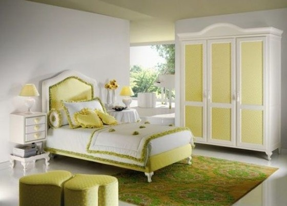 yellow bedroom furniture for girls photo - 6