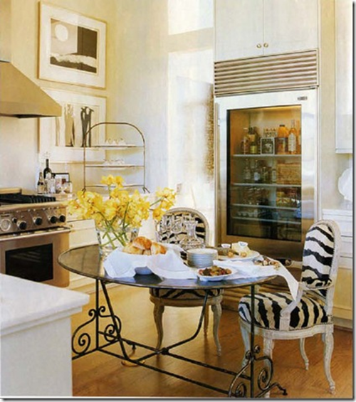 zebra kitchen chairs photo - 3