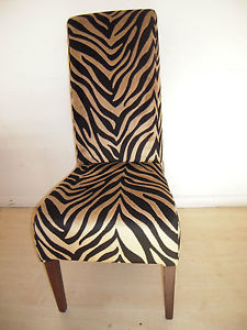 zebra kitchen chairs photo - 4