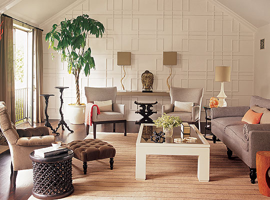 zen type living room designs photo - 1