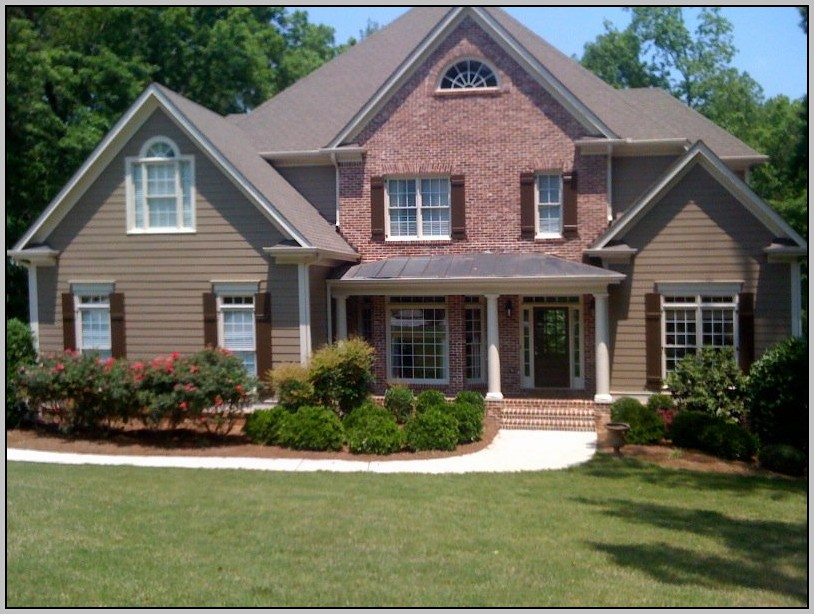 Exterior paint colors with red brick - give your house a ... on Brick House Painting Ideas  id=20628