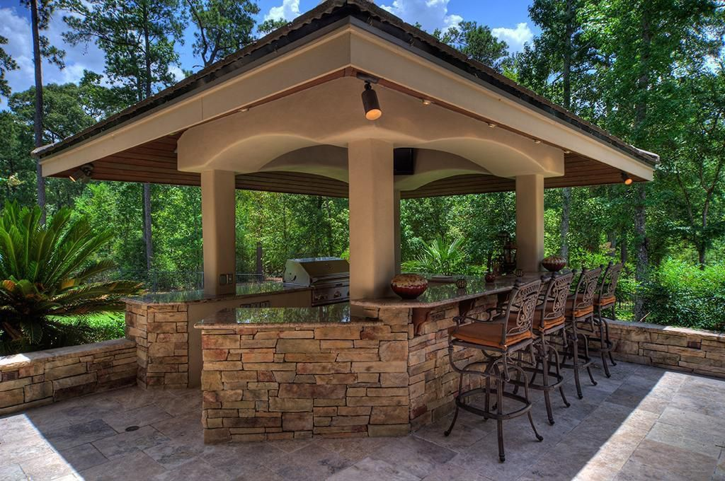 garage sale name ideas - Outdoor kitchen gazebo 20 binations of indoor and