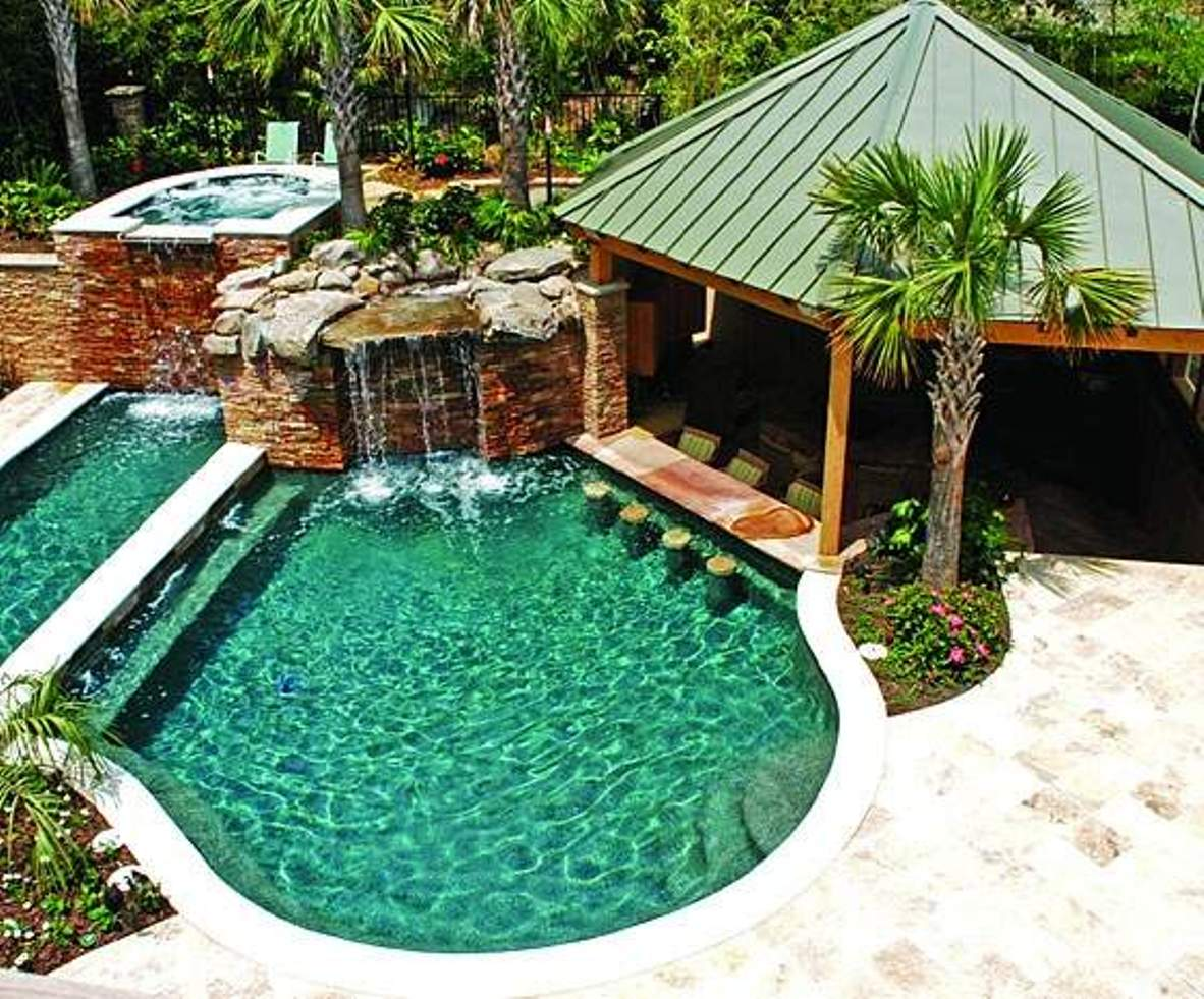 Outdoor pool and bar designs - bring out the beauty with ... on Backyard Pool Bar Designs id=95036