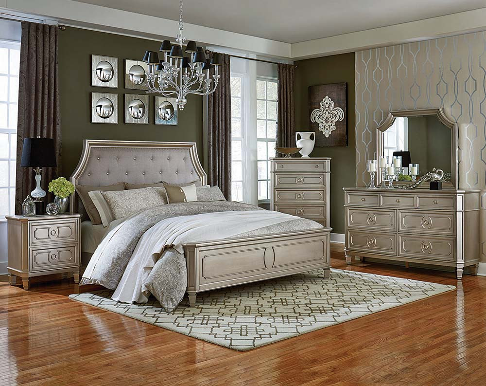 silver bedroom furniture sets reflect a clean and 13152 | silver bedroom furniture sets photo 9