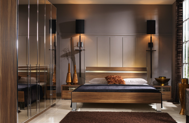 Black mirrored glass bedroom furniture - make your home ...