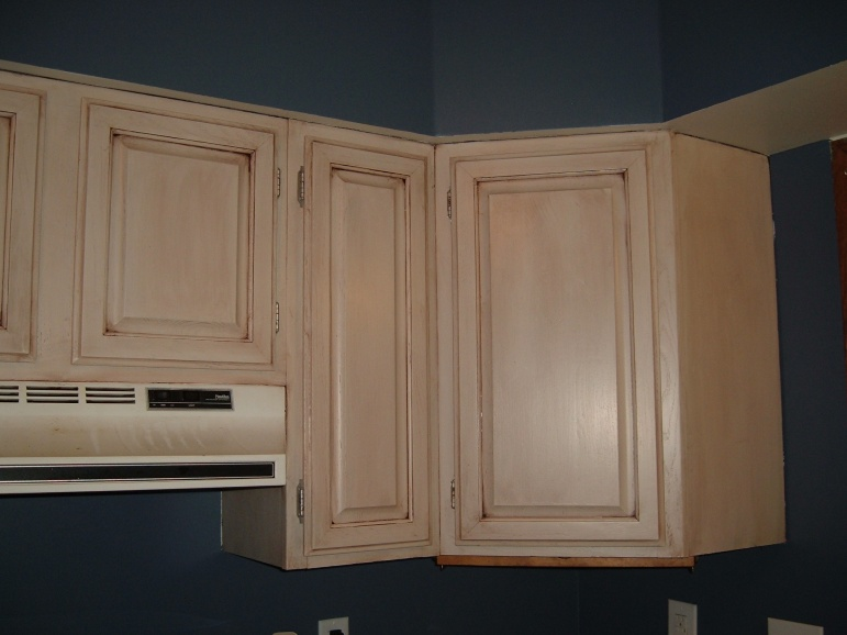 Gel stain over white cabinets - Stain inside of cabinets ...