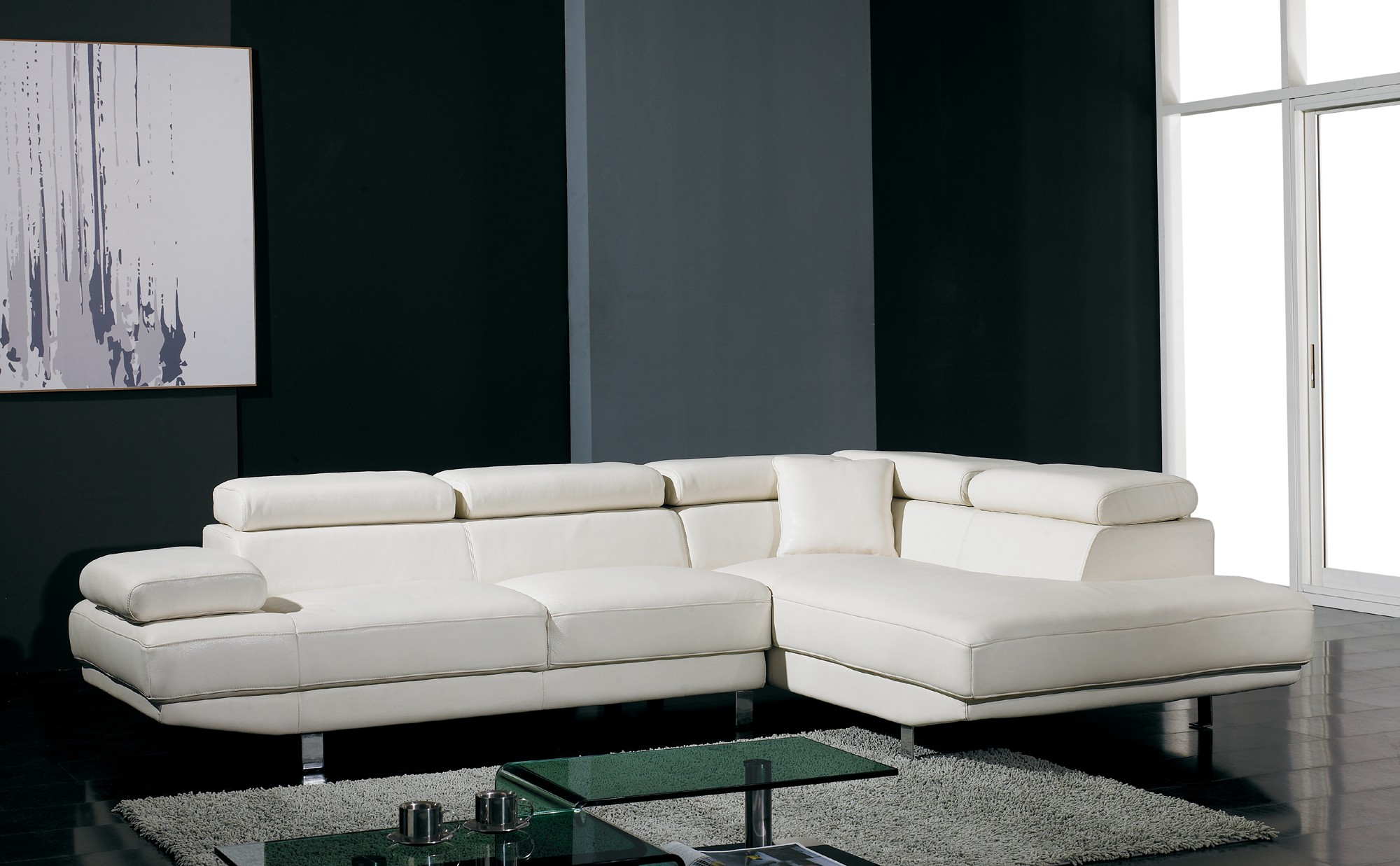Modern leather sectional sofas sale