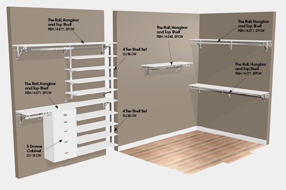 Build Your Own Closet Shelving System Organizers With